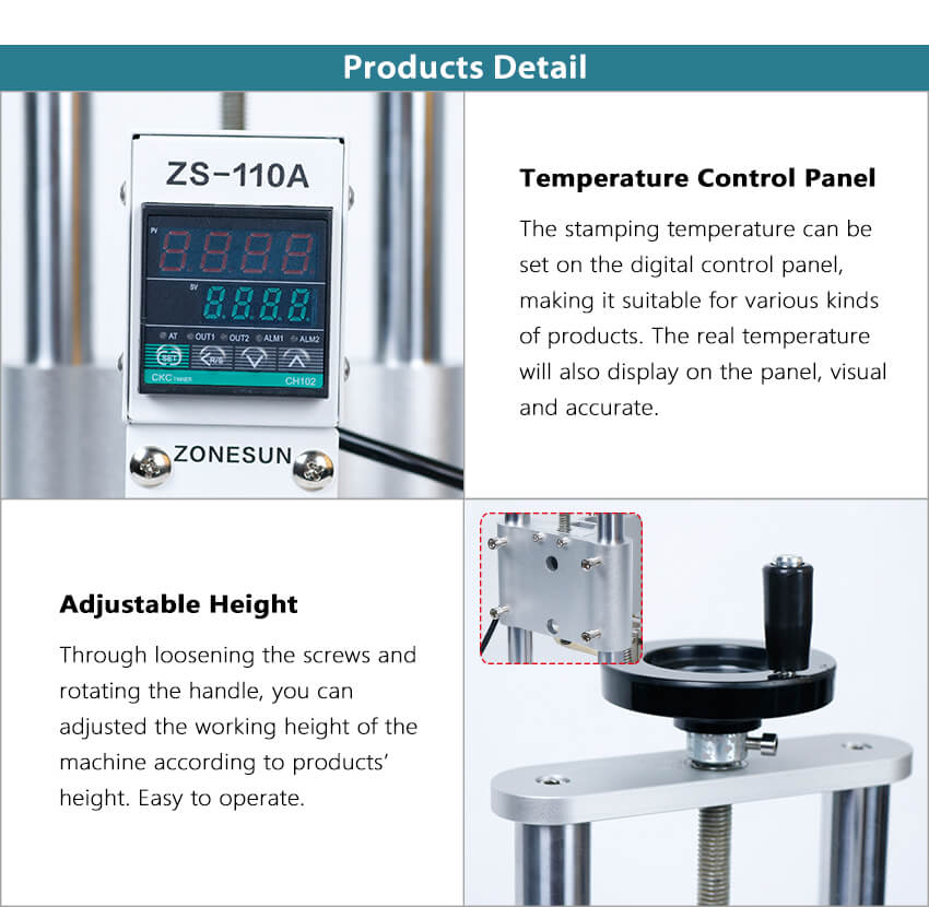 Details of ZS-110A Stamping Machine