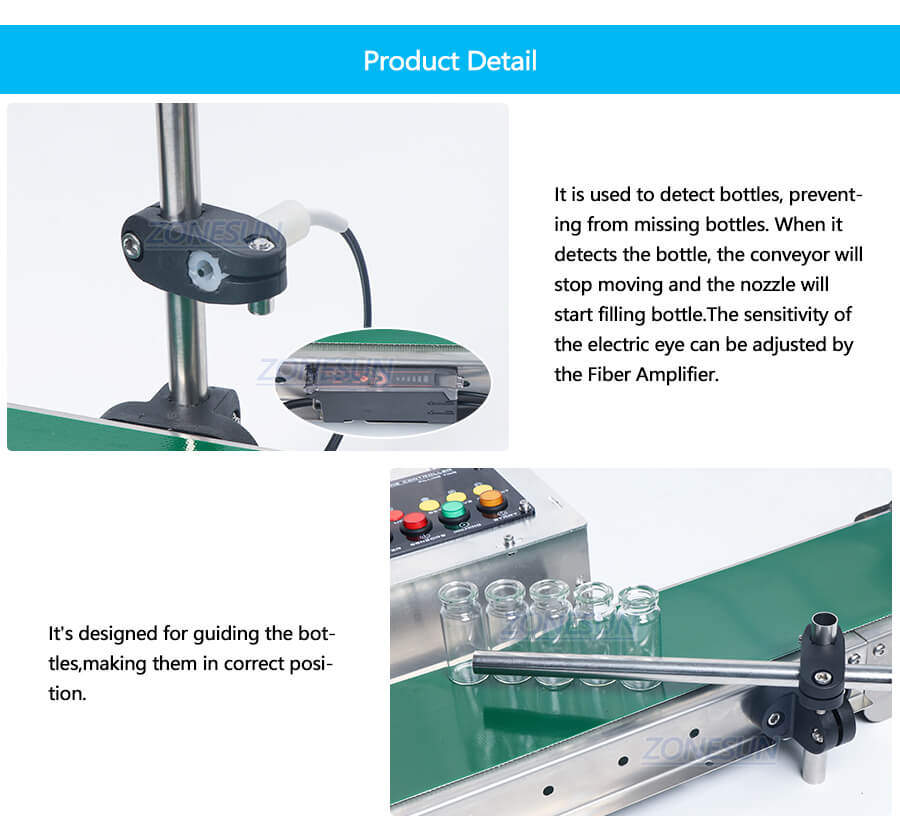 Details of ZS-DP1500 Small Bottle Filling Machine With Conveyor