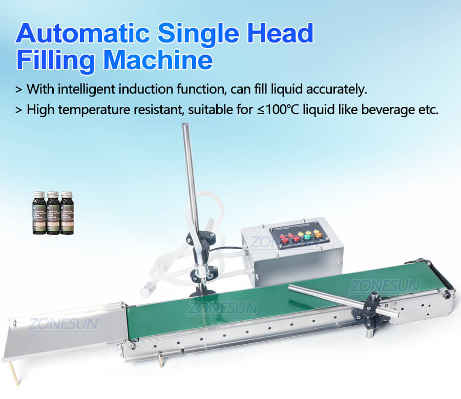 ZS-DPYT1500 Small Bottle Filling Machine With Conveyor