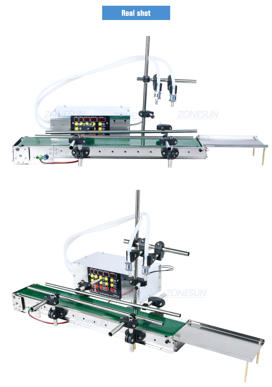 Real shot of ZS-DPYT200 Small Scale Filling Machine