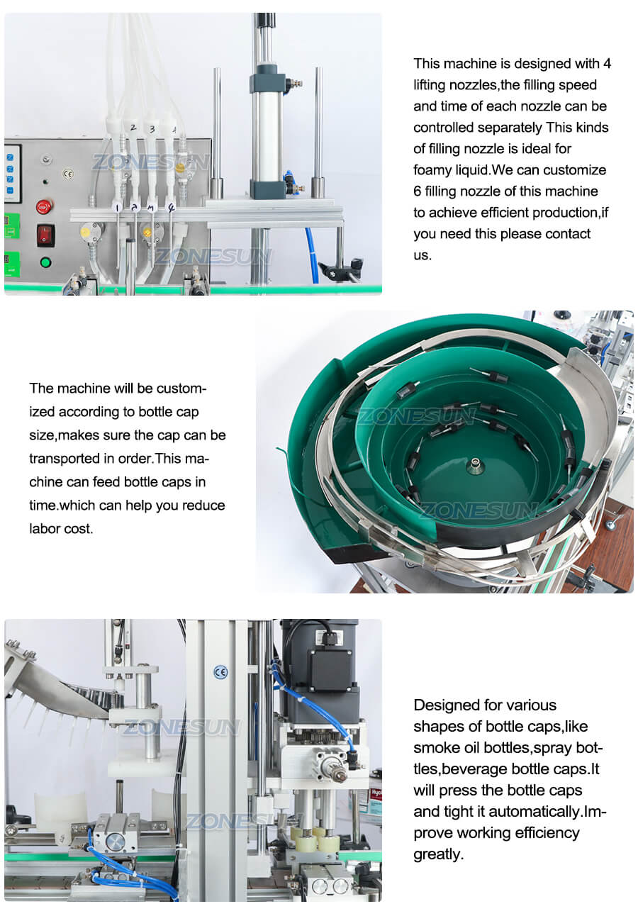 Details of ZS-FAL180D3 Small Bottle Filling Line