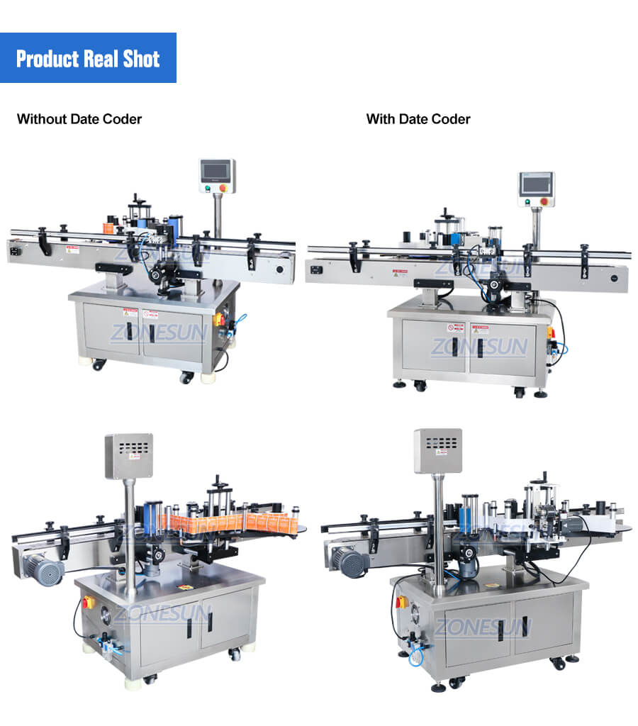 Real Shot of  ZS-TB260R Automatic Bottle Labeling Machine
