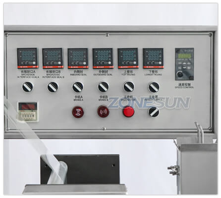 Operation Panel of ZS-TD260 Film Wrapping Machine