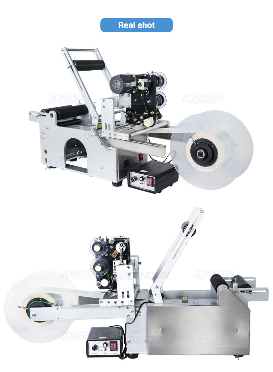 Real Shot of ZS-TB50DT Transparent Sticker Labeling Machine