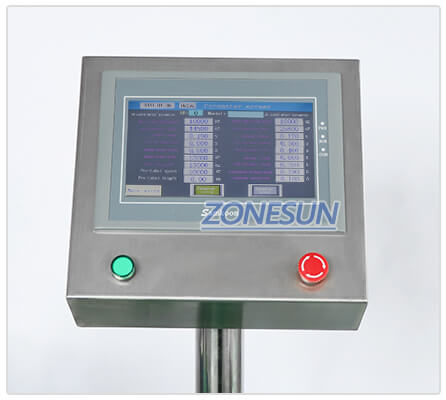 Operation Panel of ZS-TB822D Automatic Bottle Labeling Machine
