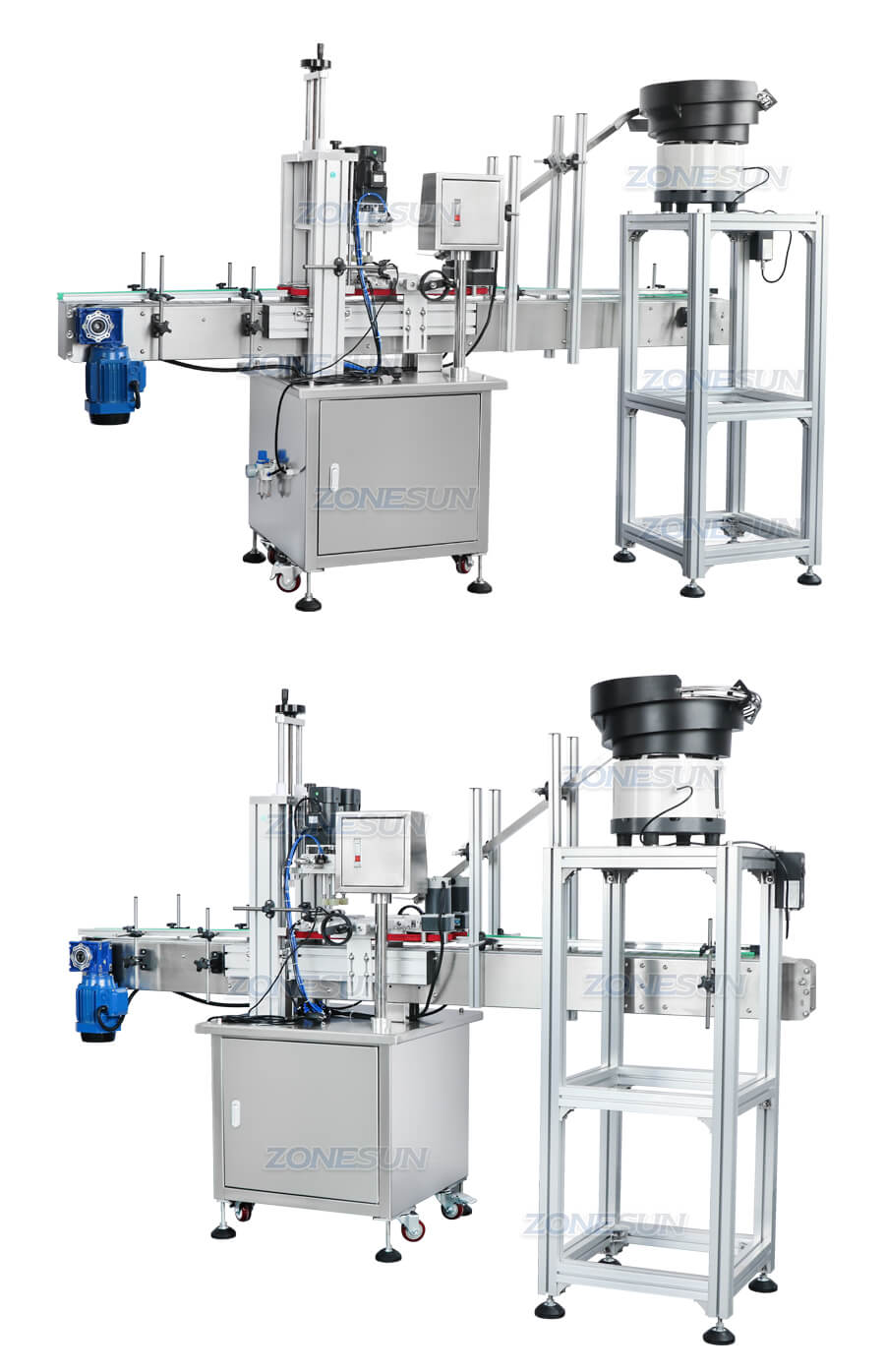 ZS-XG16 Automatic Bottle Capping Machine With Cap Feeder