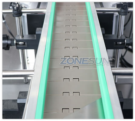 Conveyor Belt of ZS-XG16 Automatic Bottle Capping Machine With Cap Feeder