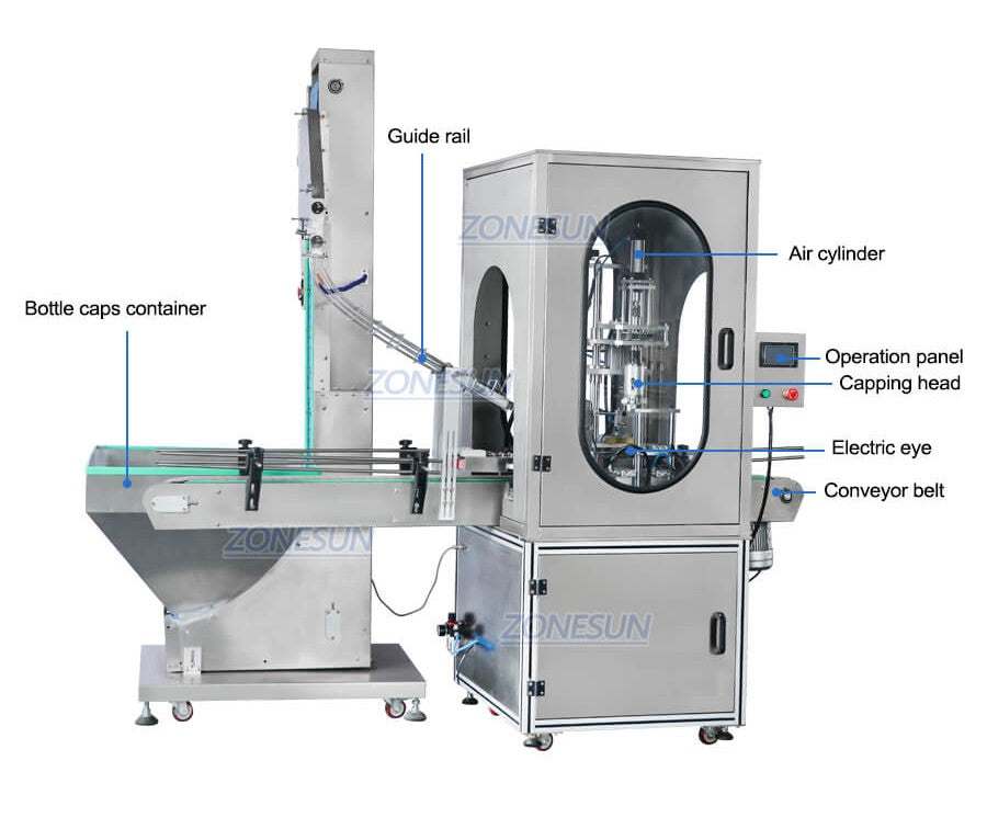 ZS-XG441F Capping Machine With Cap Feeder