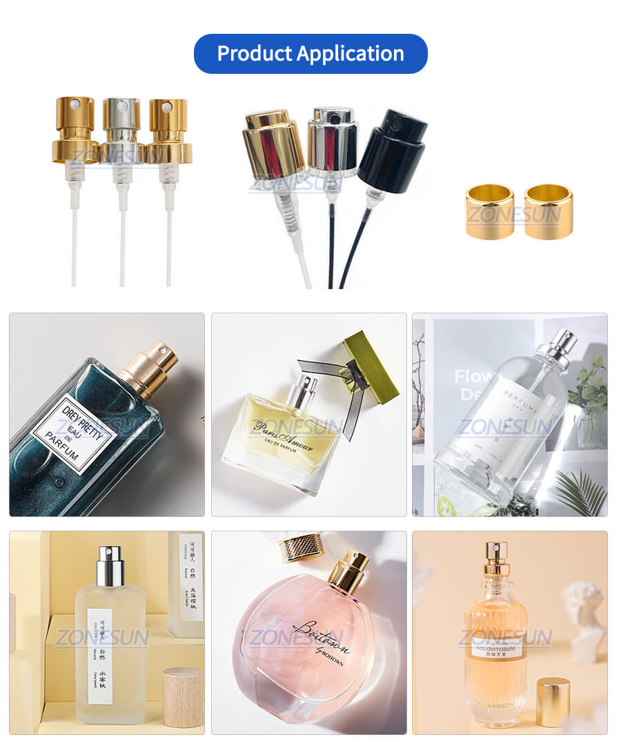 Application of ZS-YG09 Automatic Perfume Bottle Capping Machine