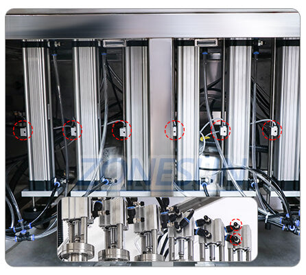 Air Cylinder of ZS-YTDC6 Automatic Liquid Filling Machine