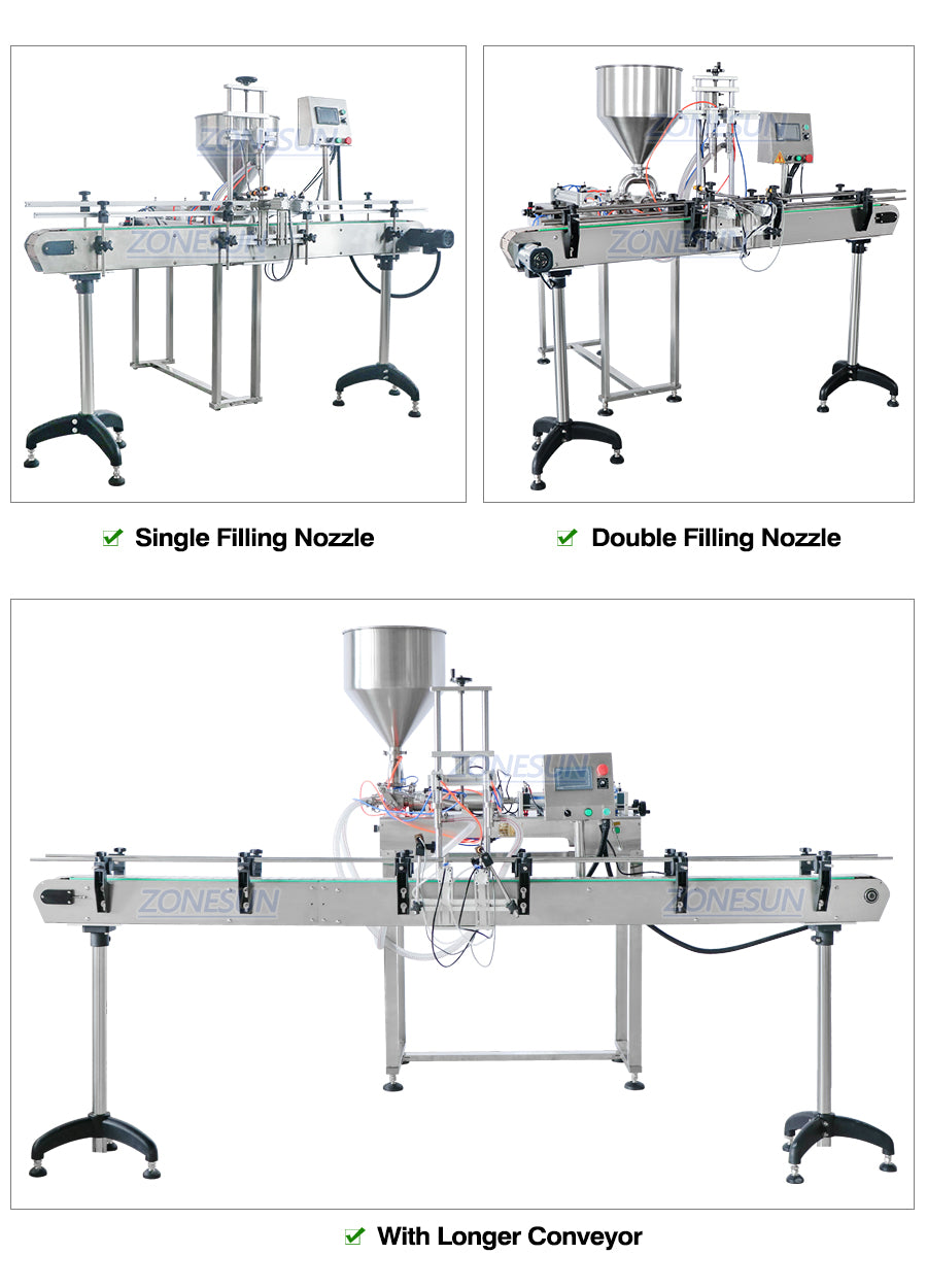 Automatic Liquid Filling Machine With Conveyor