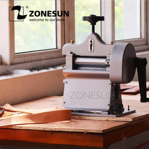 ZONESUN 8116 Manual swing leather skiver,hand leather peel tools,vegetable tanned leather splitter - ZONESUN TECHNOLOGY LIMITED