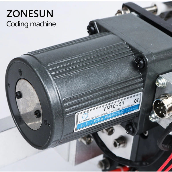 ZONESUN FREE SHIPPING Expiry Date Ribbon Coding Label Printer Hot Ribbon Coder For LT-50 Labeling Machine - ZONESUN TECHNOLOGY LIMITED
