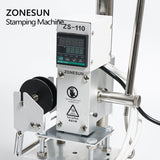 ZONESUN ZS-110 Digital Hot Foil Stamping Machine For Leather Wood Leather PVC Paper DIY - ZONESUN TECHNOLOGY LIMITED
