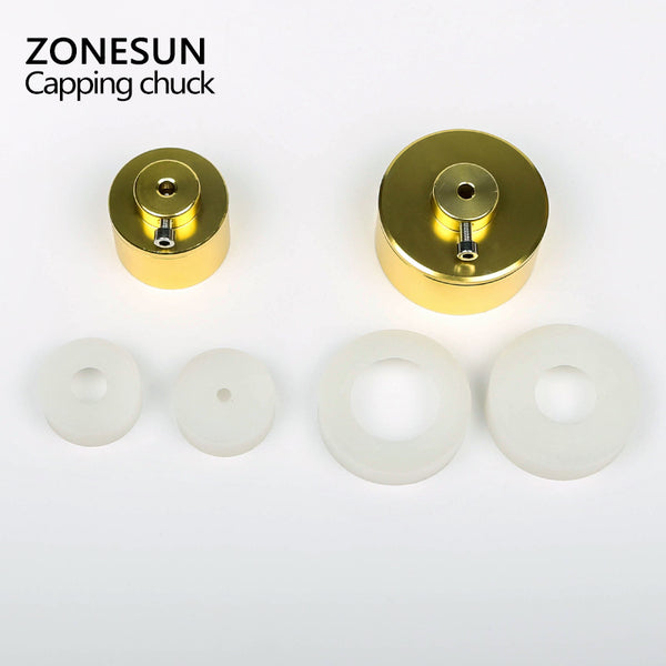 ZONESUN 28-32mm 38mm/10-50mm Capping machine chuck screw capping tool - ZONESUN TECHNOLOGY LIMITED