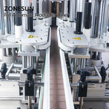 ZONESUN  ZS-FAL180P7 40L Automatic Diaphragm Pump Cooking Oil Liquid Gel Grease Filling Capping Labeling Machine
