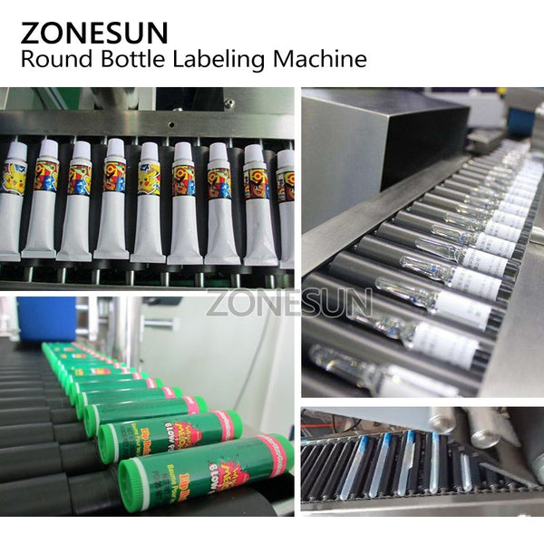 ZONESUN Automatic Flat Square Bottle Bag Pen Pencil Cigar Horizontal Adhesive Tape Sticker Packing Labeling Machine - ZONESUN TECHNOLOGY LIMITED