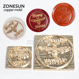 ZONESUN Custom Logo Design Embossing Stamping Mold for Leather Wood Paper  DIY Gift Customized Branding iron Printing Heat Stamping Mould - ZONESUN TECHNOLOGY LIMITED