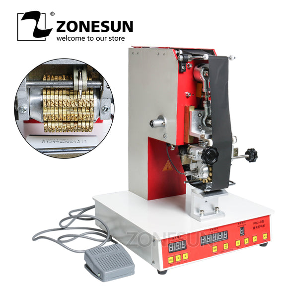 ZONESUN Rolling ribbon printer electric hot thermal printing machine number turning printer expiration code printer date number printer - ZONESUN TECHNOLOGY LIMITED
