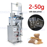 ZONESUN Automatic 2-50G Dry And Massive Power Filling Hardware Nut Automatic Powder Tea Surge Sealing Packing Machine - ZONESUN TECHNOLOGY LIMITED
