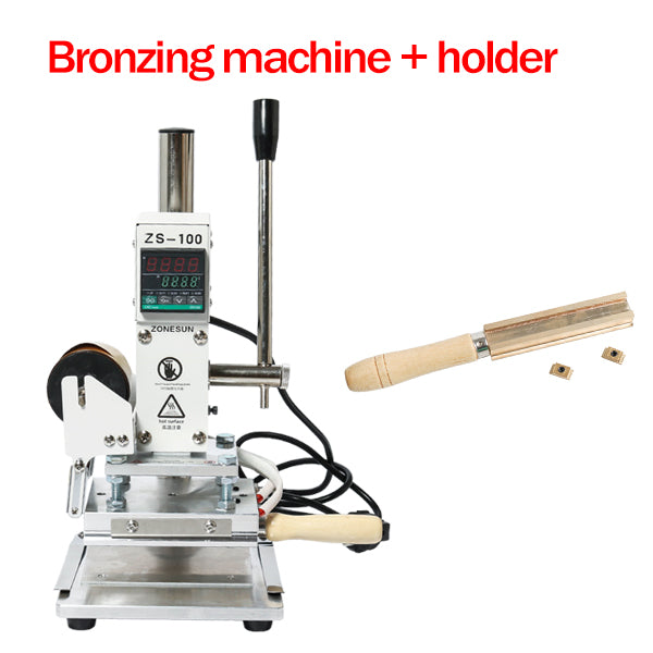 ZONESUN ZS-100B Dual Use Hot Foil Stamping Machine Manual Bronzing Machine For Pvc Card Leather Pencils Paper Stamping Machine - ZONESUN TECHNOLOGY LIMITED
