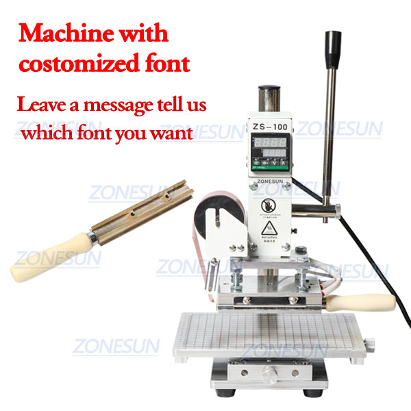 ZONESUN ZS-100C Digital Hot Foil Stamping Machine Leather Embossing Heat Pressing Machine For Wood PVC Paper Custom Logo Stamp - ZONESUN TECHNOLOGY LIMITED