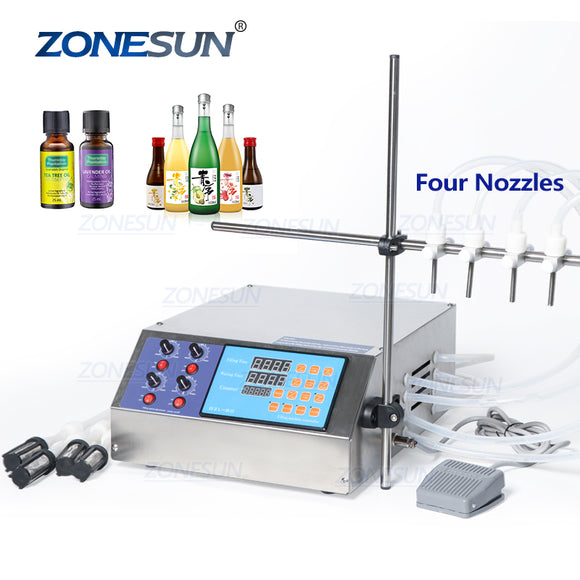 4 Nozzle Liquid Filling Machine