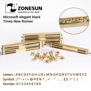 ZONESUN Hot Foil Stamp, Number, Alphabet Mold, Symbol Customized Font, DIY Leather Stamp Mold Die Cut - ZONESUN TECHNOLOGY LIMITED