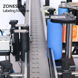 ZONESUN ZS-TB260R Automatic Round Bottle Labeling Machine For Beverage Milk Juice Plastic Bottles