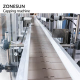 ZONESUN ZS-XG16D Automatic Glass Bottle Cap Cork Press Machine Jar Whisky Plastic Bottle Capping Machine With Dust Cover