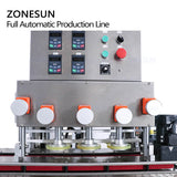 ZONESUN ZS-FAL180P8 Automatic Cosmetic Face Cream Jar Glass Bottle Jam Peanut Paste Filling Capping Labeling Machine Production Line