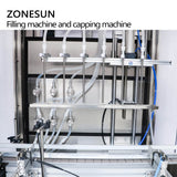 ZONESUN ZS-FAL180AD Automatic Whisky Filling Capping Machine With Dust Cover For Production Line