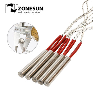 ZONESUN 5pcs diameter 6.8.10.12mm 220V Heating Element Mould Wired Cartridge Heater - ZONESUN TECHNOLOGY LIMITED