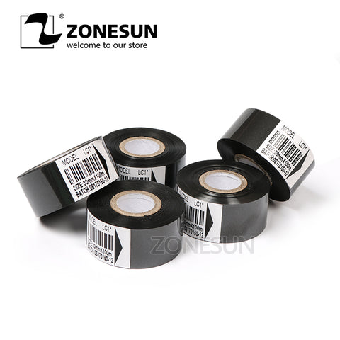 ZONESUN Thermal Ribbon of Ribbon Printing Machine for Plastic and Paper 30cm*100m - ZONESUN TECHNOLOGY LIMITED