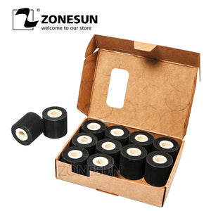 ZONESUN Free Shipping Energy Saving Black Hot Printing Ink Roll for MY-380F, Good Quality Hot Ink Roll, Black Hot Print Rolls 12 Roll - ZONESUN TECHNOLOGY LIMITED