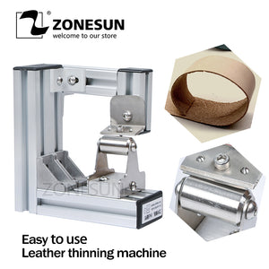 ZONESUN Leather Skiver Leather Peel Tools Peeler DIY Shovel Skin Machine Leather Splitter Peeling, leather edge skiver - ZONESUN TECHNOLOGY LIMITED