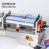 ZONESUN 2 Nozzle Full Pneumatic Beverage Juice Soft Drink Water Milk Filling Machine - ZONESUN TECHNOLOGY LIMITED