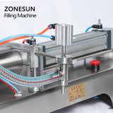 ZONESUN Full Pneumatic Flammable Liquid Bottle Dispenser Filling Machine For Soap Disinfectant Hand Sanitizer - ZONESUN TECHNOLOGY LIMITED
