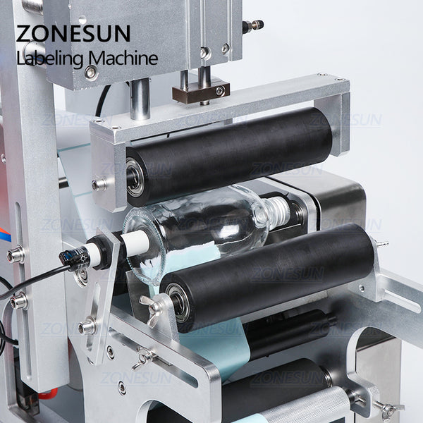 ZONESUN TB-80 Semi-automatic Round Bottle Labeling Machine For Drink Water Wine Bottles - ZONESUN TECHNOLOGY LIMITED