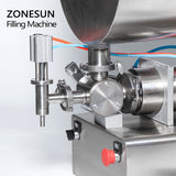 ZONESUN Chili Sauce Tabasco Quantitative Mixng Filling Machine With Mixer - ZONESUN TECHNOLOGY LIMITED