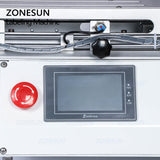 ZONESUN TB-803 Semi-automatic Model PET Plastic Model Arc Surface Flat Bottle Sticker Labeling Machine - ZONESUN TECHNOLOGY LIMITED