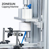 ZONESUN Pneumatic Tabletop Semi Automatic Glass Bottle Cap Press Machine Jar Whisky Plastic Bottle Capping Machine - ZONESUN TECHNOLOGY LIMITED