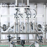 ZONESUN ZS-FAL180AP Automatic Peanut Ejuice Bottle Filling Capping For Glass Bottle Cream Assembly Machine Vibrator
