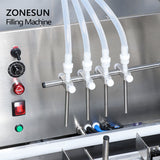 ZONESUN Full Automatic Peristaltic Pump Liquid Filling Machine For Milk Water Solvent Filler - ZONESUN TECHNOLOGY LIMITED
