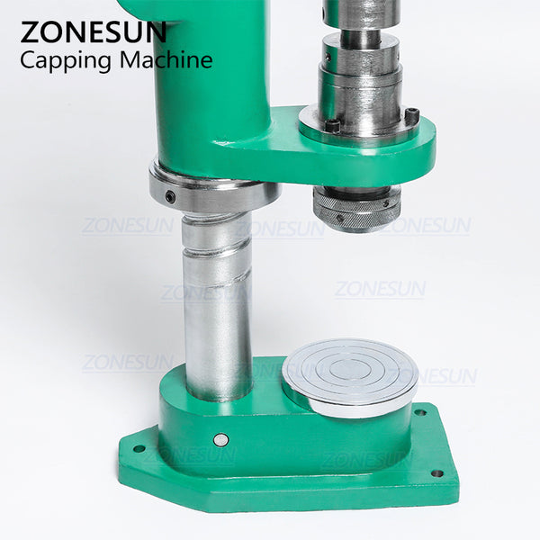 ZONESUN Manual Spray Bottle Aerosol Aluminium Bottle Crimping Capping Pressing Machine For Sunscreen Spray Medicine Car Cleaner - ZONESUN TECHNOLOGY LIMITED