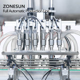 ZONESUN ZS-FAL180A3 Beverage Cosmetic Jam Automatic Honey Sauce Glass Bottle Jar Filling Capping Machine