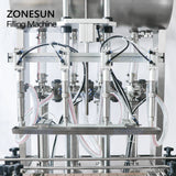ZONESUN 4 Nozzle Automatic Paste Filling Machine For Honey Sauce Cream Lotion