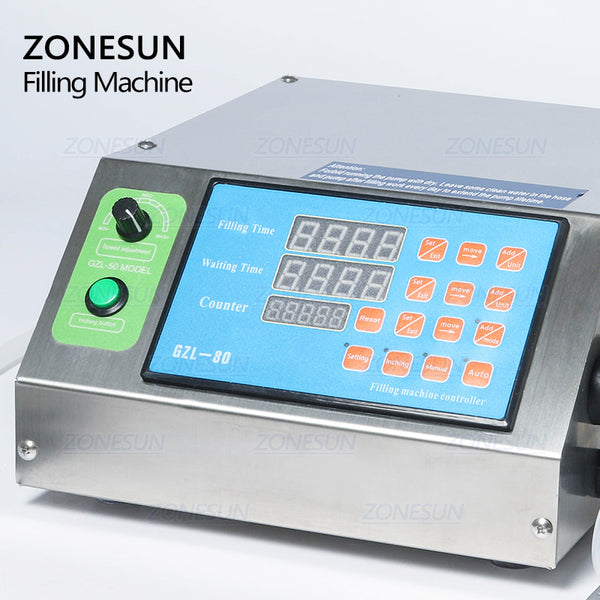 ZONESUN Gear Pump Bottle Water Filler Semi-automatic Liquid Vial Desk-top Filling Machine for Juice Beverage Drink Oil Perfume - ZONESUN TECHNOLOGY LIMITED