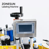 ZONESUN ZS-TB852 Bottle Flat Surface Sticker Label Applicator Side Carton Square Jar Sanitizer Labeling Machine - ZONESUN TECHNOLOGY LIMITED