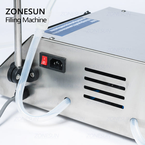 ZONESUN Diaphragm Pump Digital Control Bottle Water Filler Semi-automatic Liquid Vial Desk-top Filling Machine for Juice Beverage Oil Perfume - ZONESUN TECHNOLOGY LIMITED